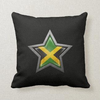 Estrella jamaicana de la bandera con el efecto de  almohada