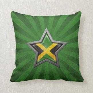Estrella jamaicana de la bandera con los rayos de  almohada