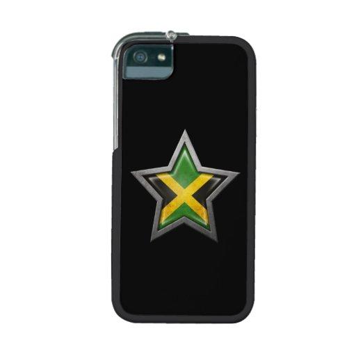 Estrella jamaicana de la bandera en negro