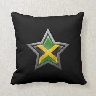 Estrella jamaicana de la bandera en negro cojines