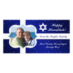 Estrella Jánuca del azul y del blanco o tarjeta de Tarjetas Personales