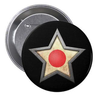Estrella japonesa de la bandera en negro pin