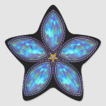 Estrella Jeweled - azul Calcomanías Forma De Estrellaes