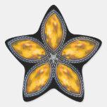 Estrella Jeweled - naranja Calcomanía Forma De Estrella