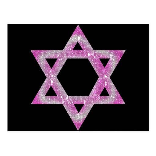Estrella Jeweled púrpura del diseño de David Postales