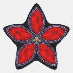 Estrella Jeweled - rojo 1 Calcomanía Forma De Estrella Personalizada