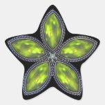 Estrella Jeweled - verde Colcomanias Forma De Estrellaes Personalizadas