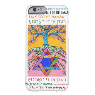 estrella jídish del caso del iPhone 6 del árbol de Funda Para iPhone 6 Barely There