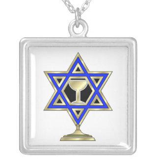 Estrella judía colgante cuadrado