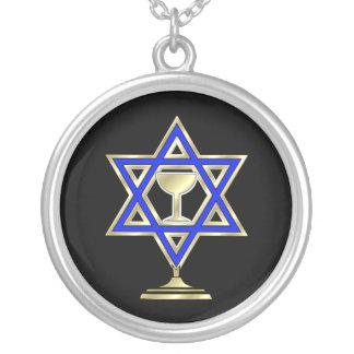 Estrella judía colgante redondo