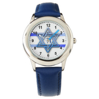 Estrella judía de Chai del hebreo de David Reloj De Mano