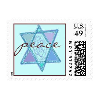 Estrella judía de la paz franqueo