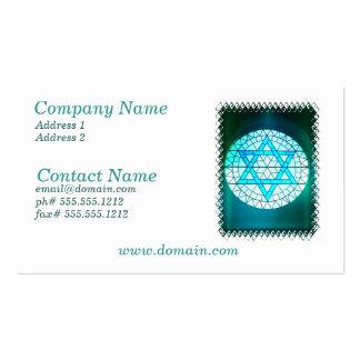 Estrella judía de la tarjeta de visita de David