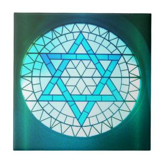Estrella judía de la teja de David