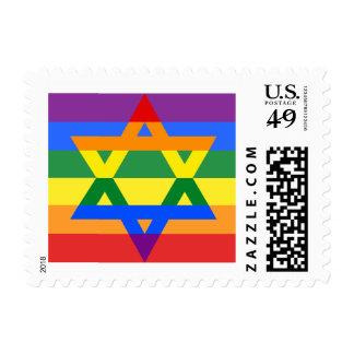Estrella judía de orgullo gay del sello de David
