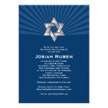 Estrella judía de plata de Josiah de la invitación