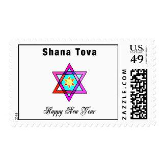 Estrella judía de Shana Tova Sellos