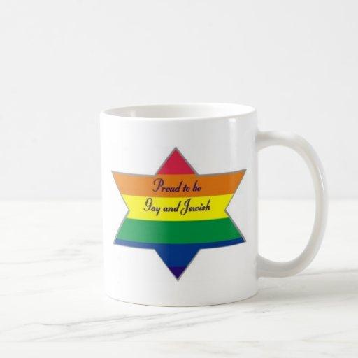 Estrella judía del arco iris taza de café