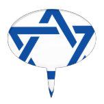 Estrella judía del azul de David Figuras Para Tartas