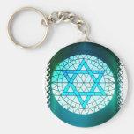 Estrella judía del llavero de David