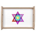 Estrella judía del mosaico bandeja