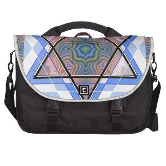 Estrella judía en moaré bolsas para portátil