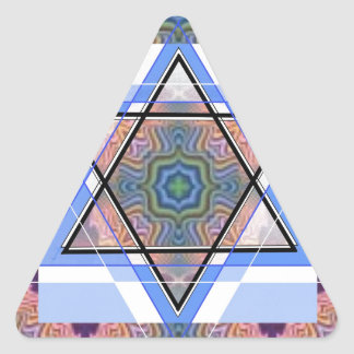 Estrella judía en moaré pegatina triangular