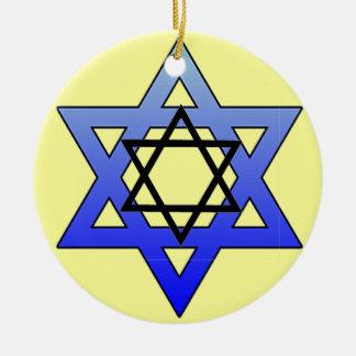 Estrella judía estrella de David ornamento de Ma Ornaments Para Arbol De Navidad