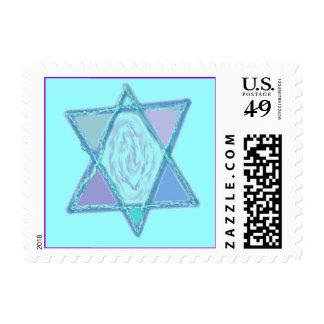 Estrella judía multicolora franqueo