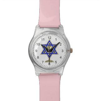 Estrella judía relojes de pulsera