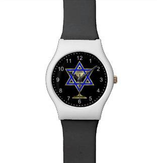 Estrella judía relojes de mano