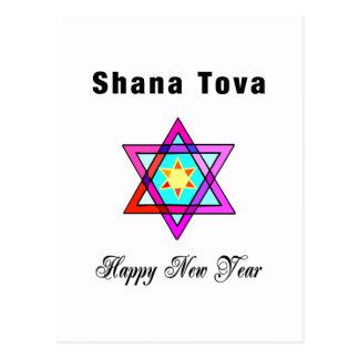 Estrella judía Shana Tova Postal