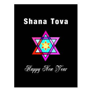 Estrella judía Shana Tova Tarjetas Postales