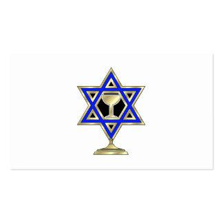 Estrella judía plantilla de tarjeta de visita