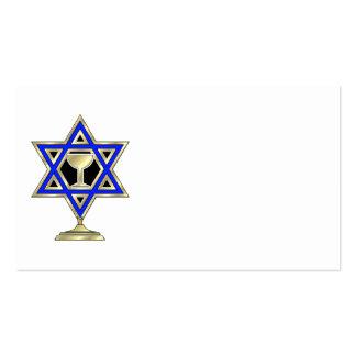 Estrella judía tarjeta de negocio