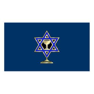 Estrella judía tarjetas personales