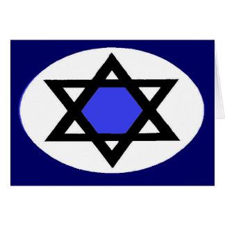 estrella judía tarjeta de felicitación