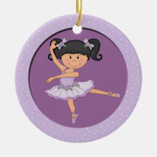 Estrella linda del ballet de la bailarina 1 de la ornamento para arbol de navidad