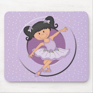 Estrella linda del ballet de la bailarina 2 de la mousepads