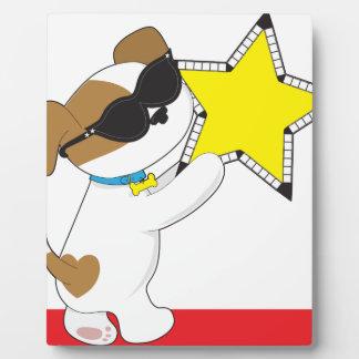Estrella linda del perrito placa para mostrar