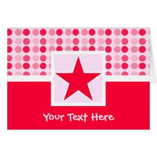 Estrella linda tarjeta de felicitación