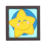 Estrella linda y sonriente caja de joyas de calidad