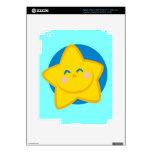 Estrella linda y sonriente iPad 3 pegatinas skins
