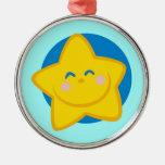 Estrella linda y sonriente ornato