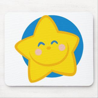 Estrella linda y sonriente, para la niña tapete de raton