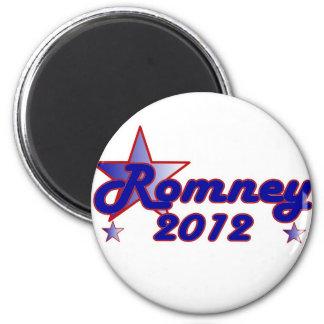 Estrella lisa de Romney 2012 Imán Redondo 5 Cm