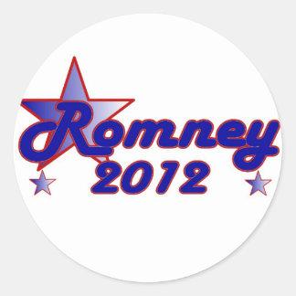 Estrella lisa de Romney 2012 Pegatina Redonda