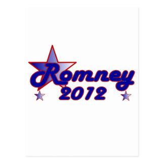 Estrella lisa de Romney 2012 Postales