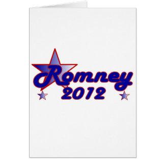 Estrella lisa de Romney 2012 Tarjeta De Felicitación