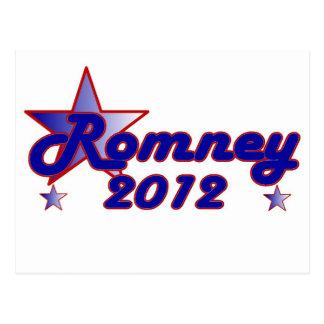Estrella lisa de Romney 2012 Tarjetas Postales